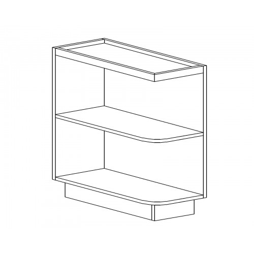 "Kingston Base Open End Shelf (RIGHT) - 12"" W"