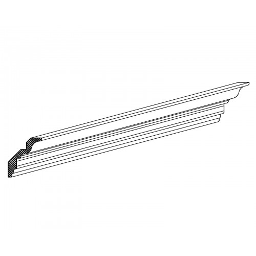 "Kingston Classic Crown Molding (96"") Accessory - 3.5"" W"