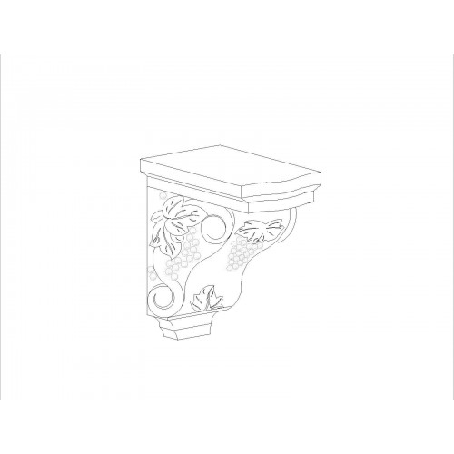 "Shaker Grey Corbel (Stain Finish) Accessory - 4.5"" W x 12"" H x 4.5""D"