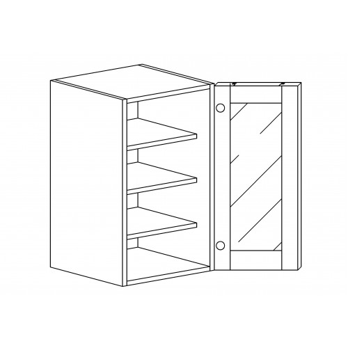 "Princeton Wall Mullion Door Cabinet - 12"" W x 42"" H x 12"" D"
