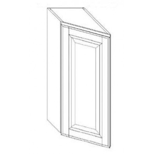 """Shaker White Wall End Angle - 12"""" W x 36"""" H x 12"""" D"""