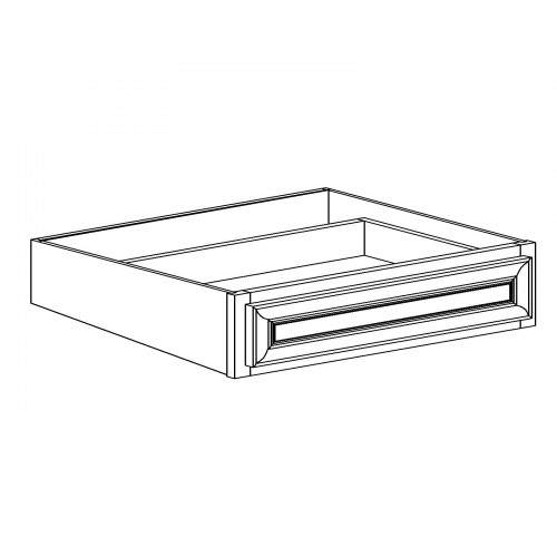 "Shaker White Base Kitchen Size Drawer - 24"" W x 7.25"" H x 21"" D"