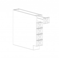 "Shaker Grey Base Spice Drawer - 6"" W x 34.5"" H x 24"" D"