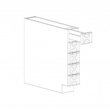 "Kingston Base Spice Drawer - 6"" W x 34.5"" H x 24"" D"