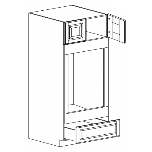 "Oxford Double Oven Pantry Cabinet - 30"" W x 96"" H x 24"" D"