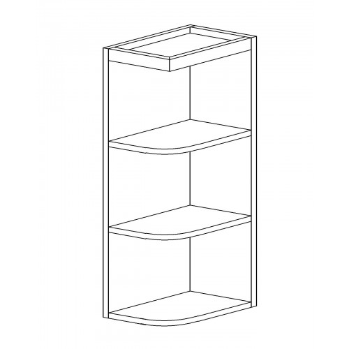 "Shaker Espresso Wall Open End Shelf - 12"" W x 42"" H x 12"" D"